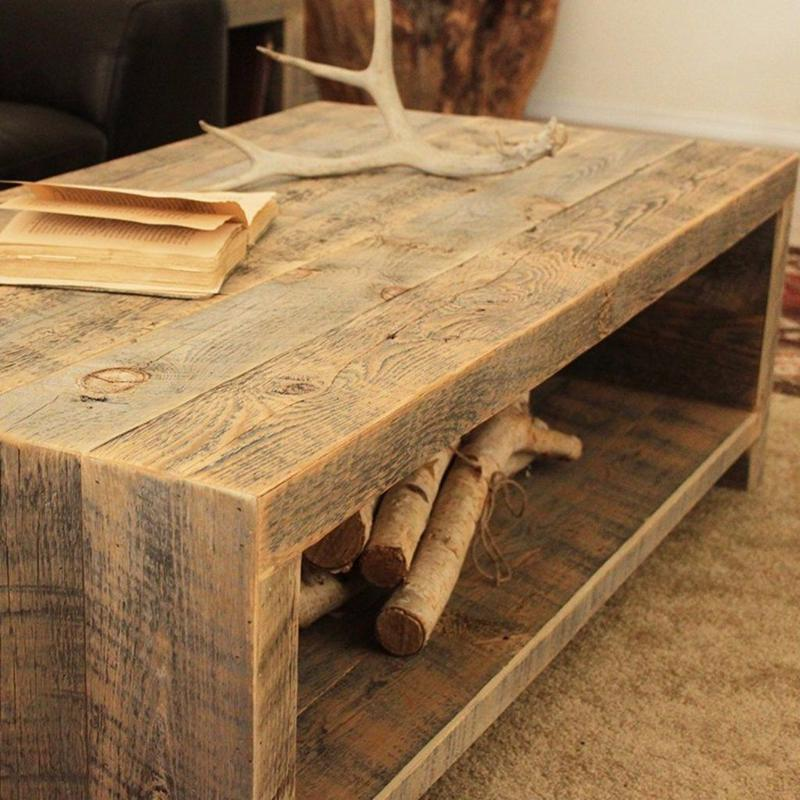 Bi Level Open Design Wood Coffee Table The Spotted Door