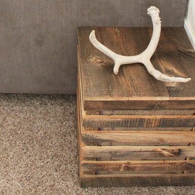 Reclaimed Wood Side Table or Speaker Box