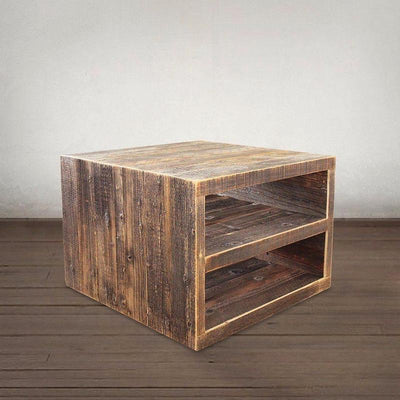 Reclaimed Wood Two Tier Coffee Table