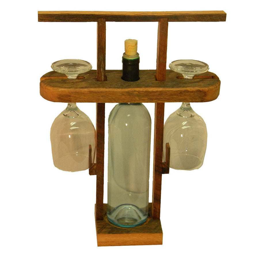 Reclaimed Wood Wine Travel Caddy
