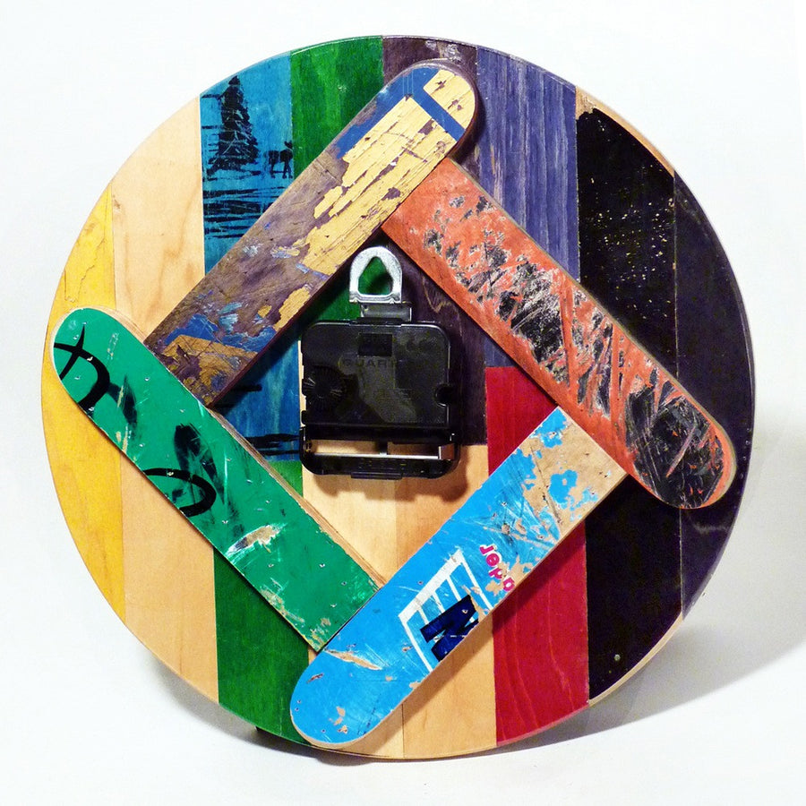 Recycled Skateboard Wall Clock