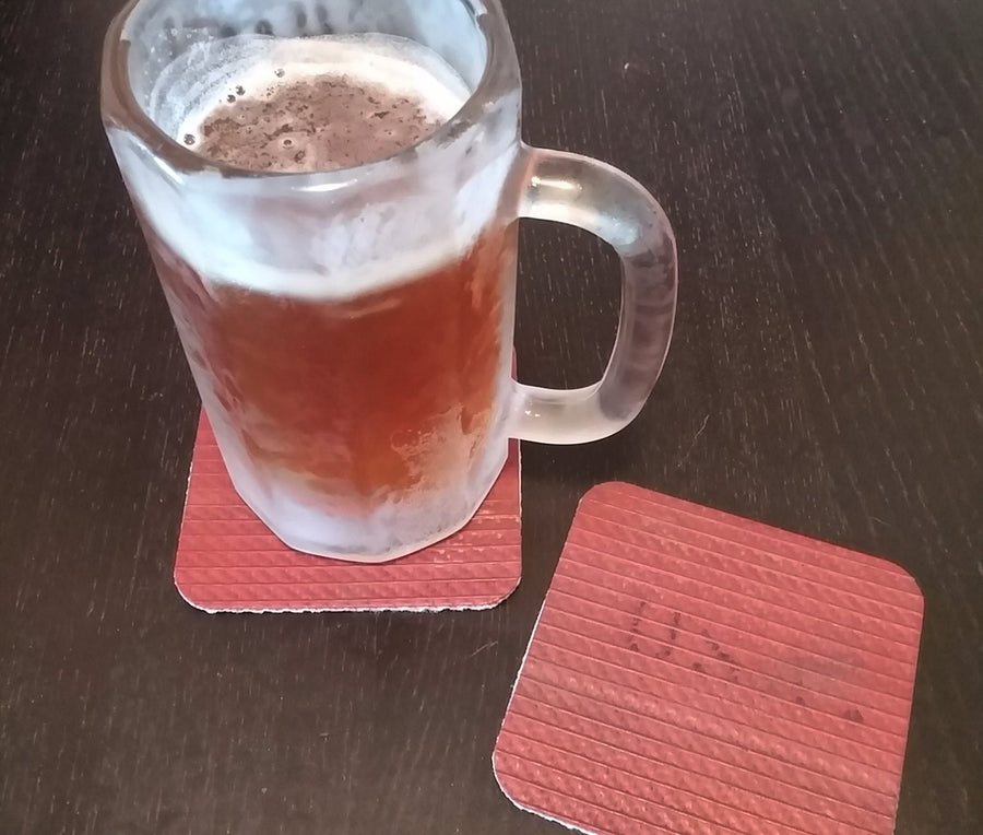 Red Fire Hose Coasters