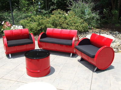 Red Loft 4 Piece Indoor/Outdoor Seating Group