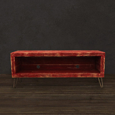 "Red Reclaimed Wood 36"" Media Console"