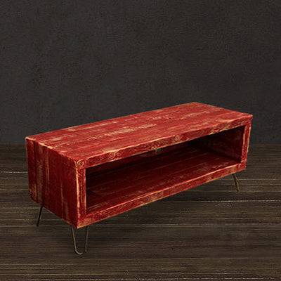 "Red Reclaimed Wood 48"" Media Console"