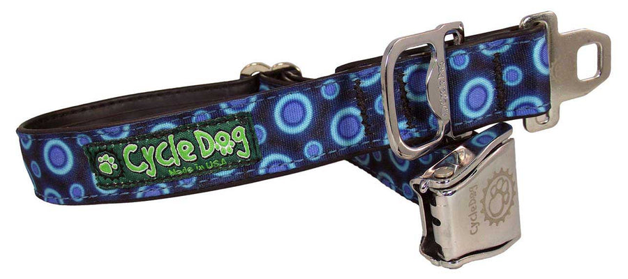 Blue SpaceDots Dog Collar