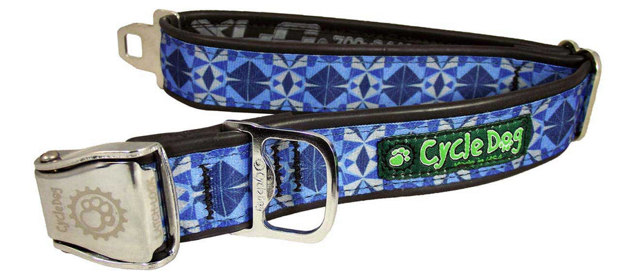 Blue Kaleidoscope Dog Collar