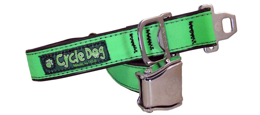 Green MAX Reflective Dog Collar