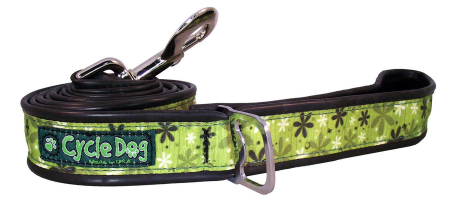 Apple Green Retro Flowers Dog Leash