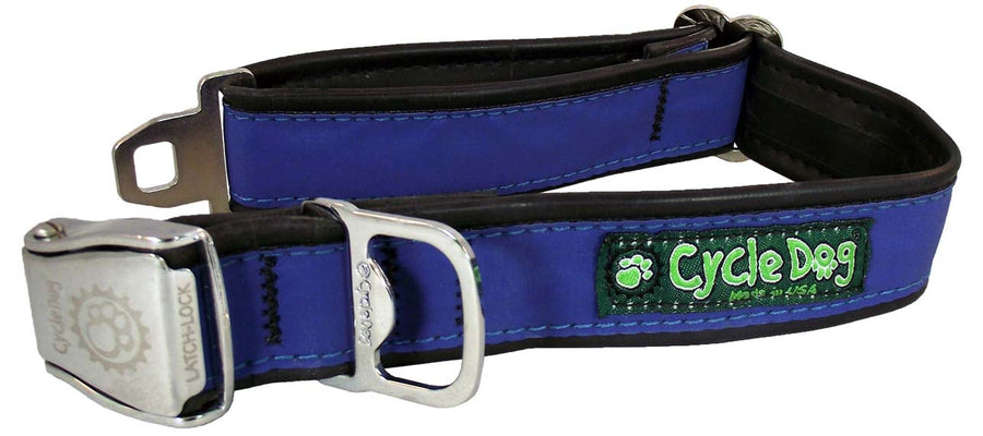 Blue MAX Reflective Dog Collar