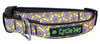 Yellow Purple SpaceDots Dog Collar