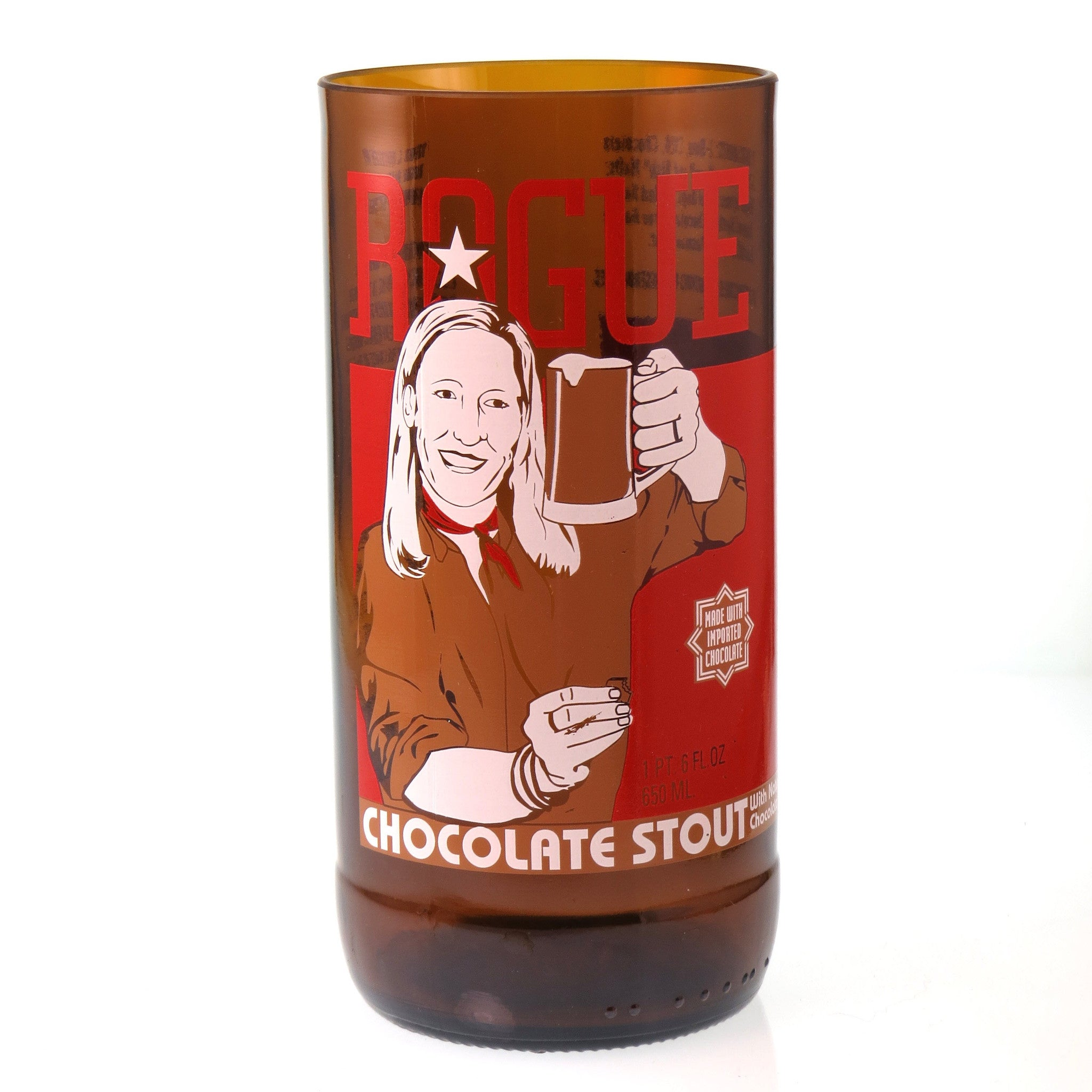 Rogue Chocolate Stout Beer Bottle Glass - The Spotted Door