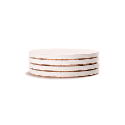White Round Concrete Coasters