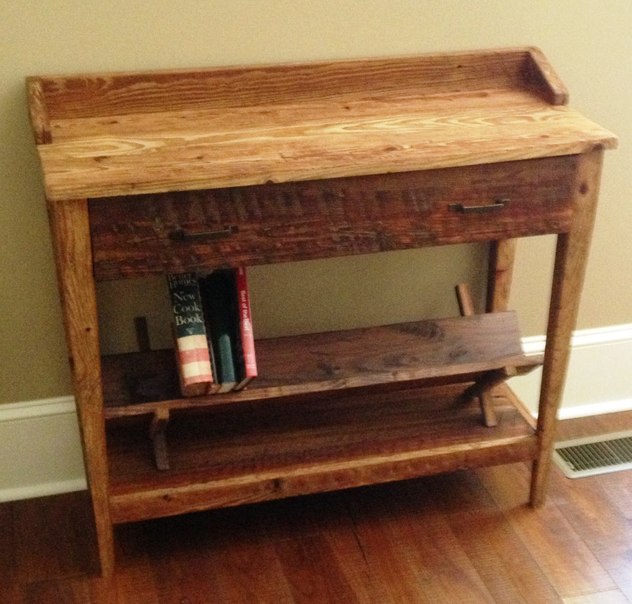 Reclaimed Wood Entryway Table or Desk