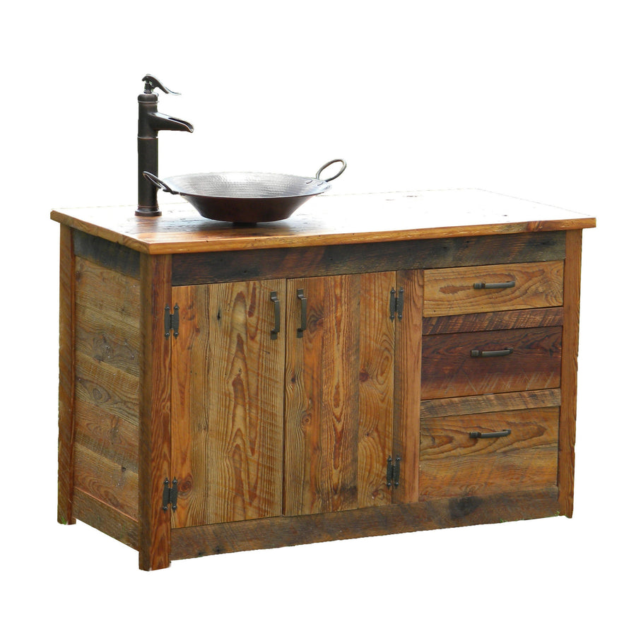 Rusted Nail Reclaimed Wood Bathroom Vanity
