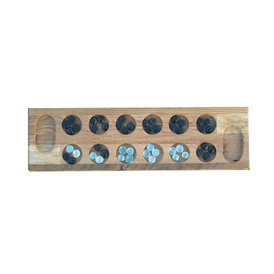 Reclaimed Wood Mancala Board