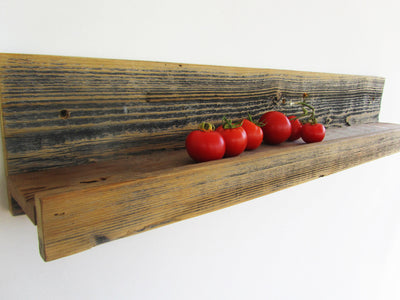 "24"" Rustic Reclaimed Wood Ledge Shelf"