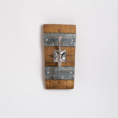 Single Wine Barrel Stave Coat Hook