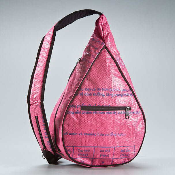 Recycled Sling Bag in Raspberry