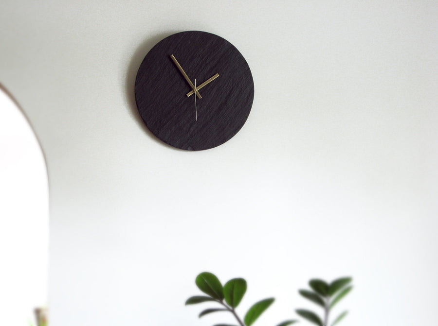 Salvaged Slate Clock & Chalk