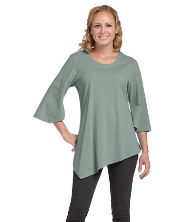 Salvia Women's Eco-Friendly Top - Chamblue/Olive