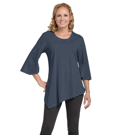 Salvia Women's Eco-Friendly Top - Charcoal/Chamblue