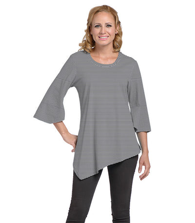 Salvia Women's Eco-Friendly Top - Charcoal/Cloud