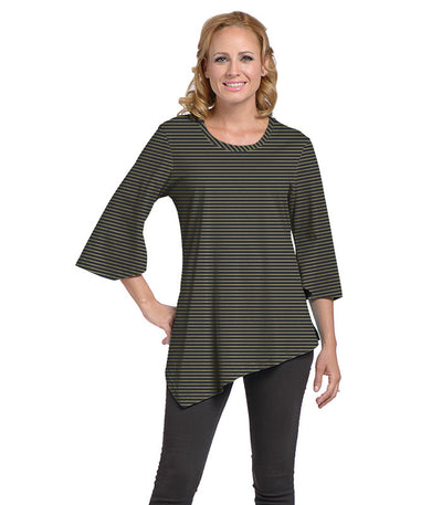 Salvia Women's Eco-Friendly Top - Charcoal/Olive