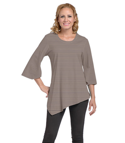Salvia Women's Eco-Friendly Top - Charcoal/Sand