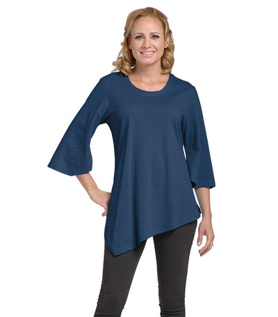 Salvia Women's Eco-Friendly Top - Charcoal/Sapphire