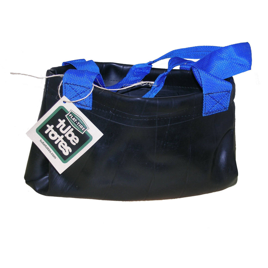 Shelby Recycled Rubber Tote Bag with Blue Handles