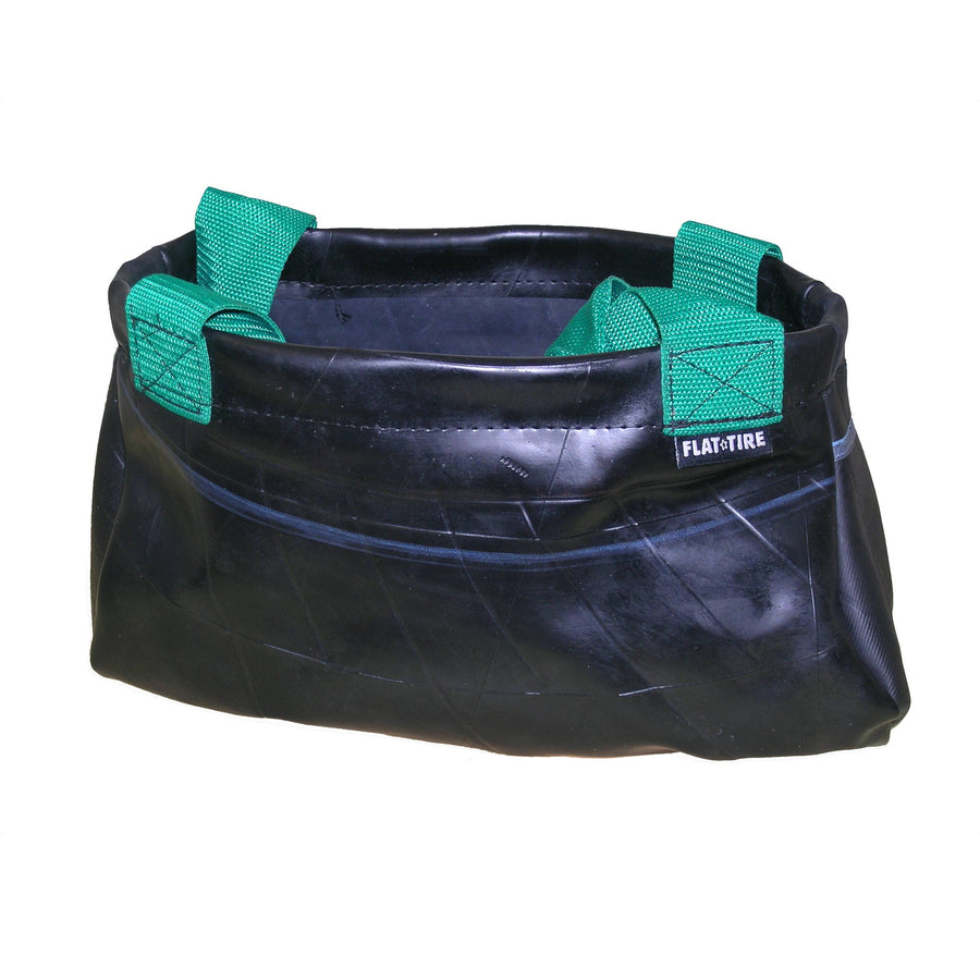 Shelby Recycled Rubber Tote Bag with Green Handles