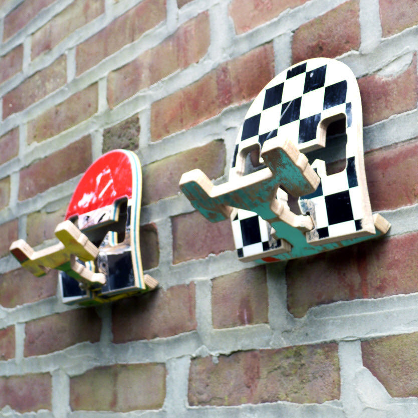 Reclaimed Skateboard Wall Hook