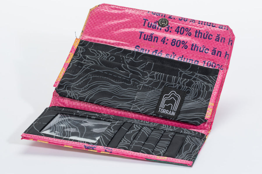 Fair Trade Sunset Pink Snap Wallet