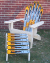 Snow Ski Chair & Ottoman (Blue Elan)