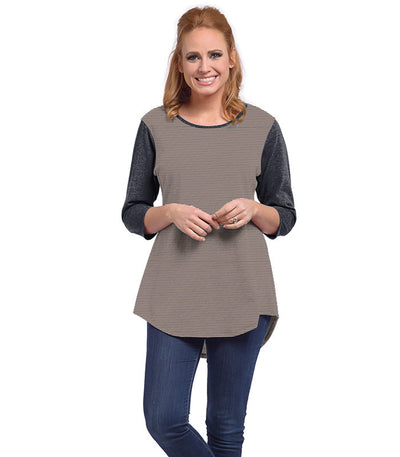 Snowdrop Eco-Friendly Top - Charcoal/Sand