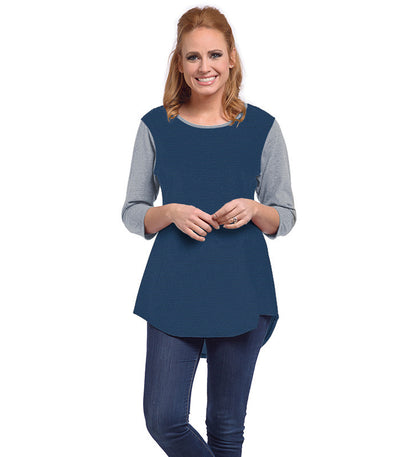 Snowdrop Eco-Friendly Top - Charcoal/Sapphire