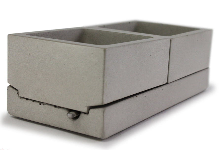 Square Concrete Salt + Spice Caddy