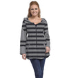 Stargazer Ladies Cardigan - Charcoal/Cloud