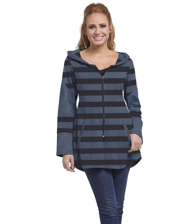 Stargazer Ladies Cardigan - Charcoal/Ocean