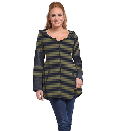 Stargazer Ladies Cardigan - Charcoal/Olive