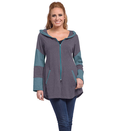 Stargazer Ladies Cardigan - Merlot/Tide