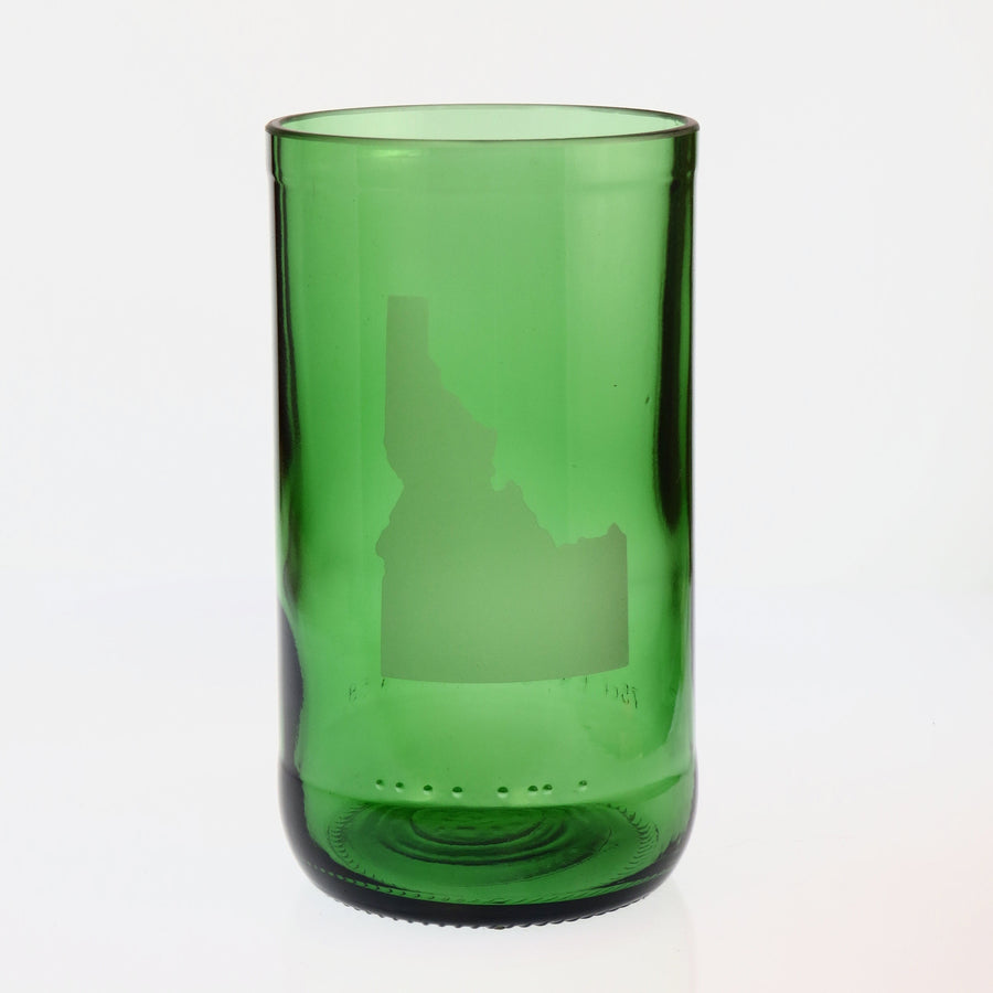 Green State Embossed Highball Glass