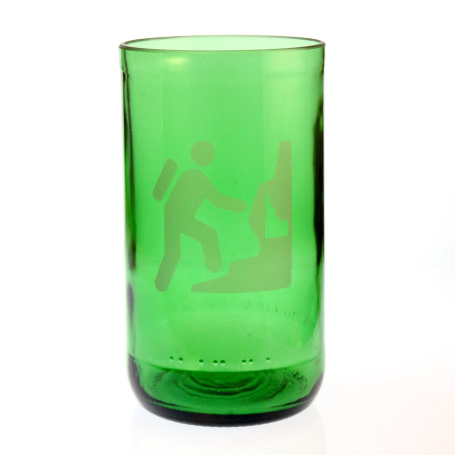 Hiking State Embossed Drinking Glass