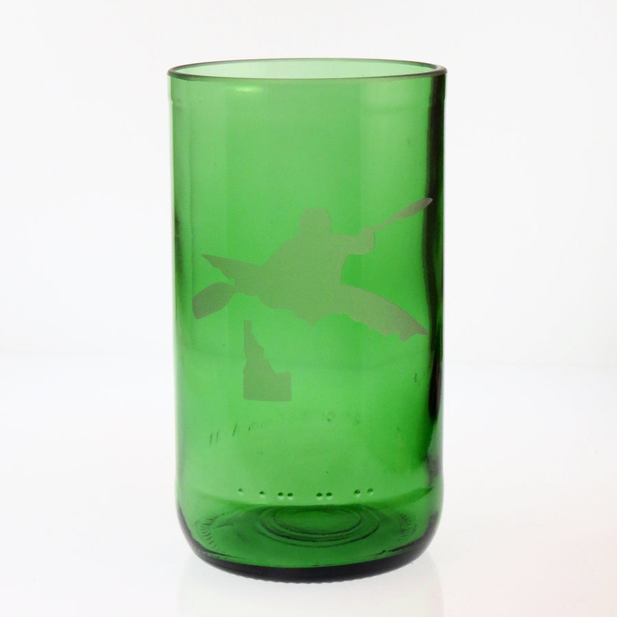 Kayaking State Embossed Drinking Glass