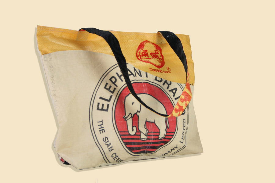 Elephant Branded Cement Tote Bag