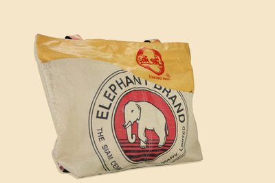 Elephant Branded Yellow Recycled Tote Bag