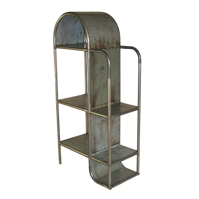 Tubular Deco Curio Reclaimed Metal Shelf