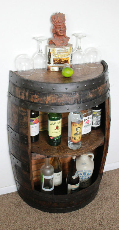 Whiskey Barrel Half Bar