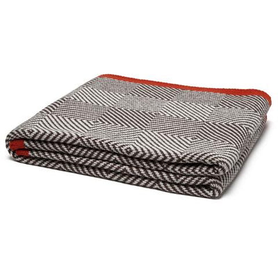 Eco Woven Square Throw Blanket (Chocolate/Milk/Spice)